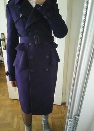 Пальто шерсть trenchcoat  42.