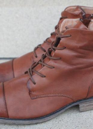 Ботинки pier one made in portugal кожа англия 40р