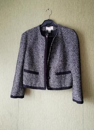 👑 жакет в стиле шанель 👑 укороченный пиджак h&m