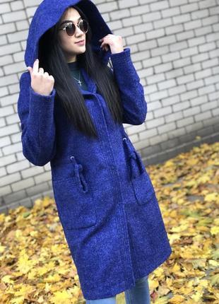Парка пальто шерстяное теплое