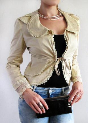 Maxmara! брендовый женственный пиджачёк  с кружевом
