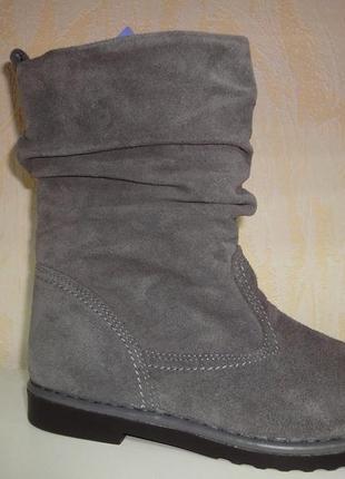 Демисезонные замшевые утепленные ботинки 41 р. inblu женские инблу, інблу, флисе, сапоги