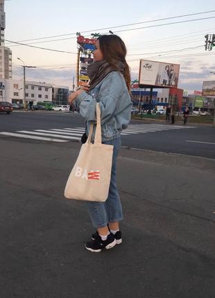 Экосумка ,или сумка-шоппер.лен ,оригинальный брендовый принт