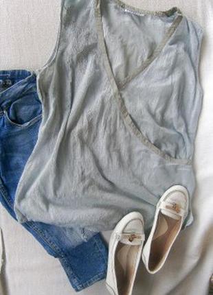 Легкая блуза с нитью люрекса размер 52-54