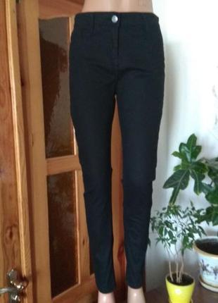 Повседневные леггинсы -джинсы черного цвета с высокой посадкой /размер м/10 от papaya