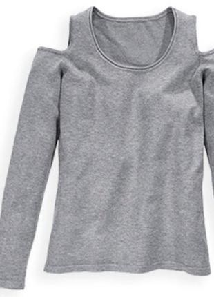 Свитшот пуловер с открытыми плечами р. 44 46  blue motion германия