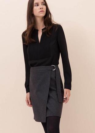 Брендовая юбка на запах zapa paris, в наличии 38 , 40 и 42 европ. размер, 100% шерсть