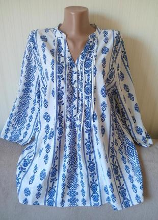 Блузка как вышиванка, р 14-16, идеальное состояние