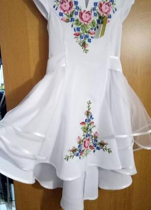 Нарядное, вышитое, праздничное платье