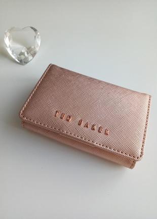 Кошелек мини ted baket натуральная кожа цвета розового золота