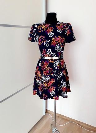 1+1=3 шикарное фактурное платье цветочный принт