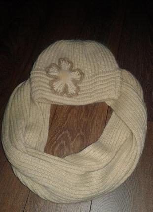 Комплект шапка і шарф