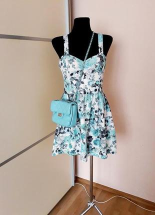 1+1=3 милейшее фактурное  платье цветочный принт