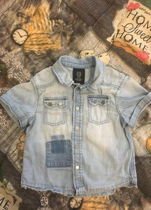 Джинсовая рубашка на кнопках h&m