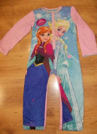 Пижама кигуруми слип человечек комбинезон на 4-5 лет рост 104-110 см