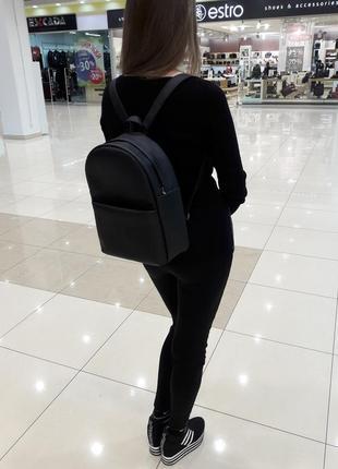 Стильный женский рюкзак черный для учебы, путешествий, прогулок