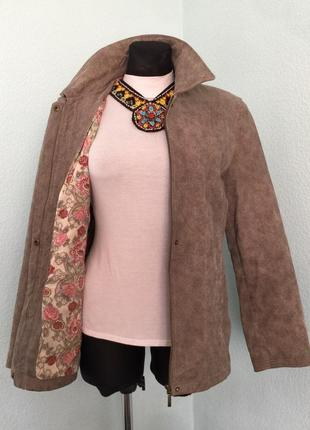 Куртка пиджак кожа donna размер  12 наш 46-48 цена 399грн.