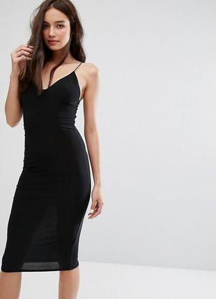 Платье-миди с бретельками club l a1034