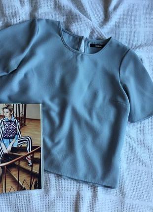 Блуза свободного укорочённого кроя