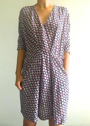 Vip бренд maje sandro оригинал франция шелковое платье летнее коктейльное