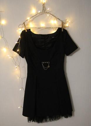 Акция 2=3 платье фактурное базовое с фатином a.m.n.