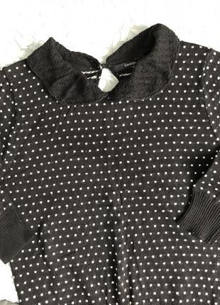 Кофта свитер в горошек