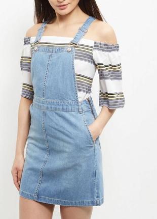 Стильный джинсовый сарафан new look