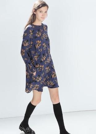 Новое ☝️без бирки☝️ платье 👗с разноцветным цветочным 🌷🥀принтом zara trafaluk morocco
