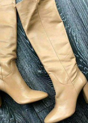 Шкіряні чоботи на підборах 35-42 р. zara! є кольори 3c373e028f245