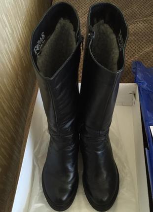 Зимние кожаные сапоги mida