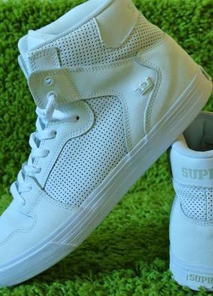 Кросівки шкіряні, кроссовки кожаные supra