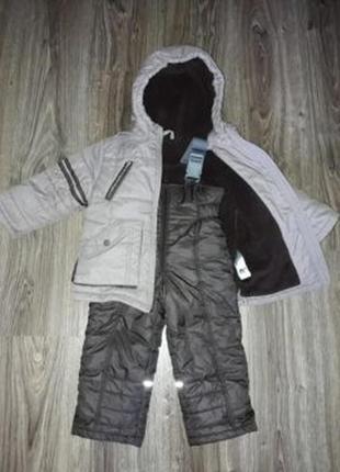 Комплект зимний комбинезон и куртка фирмы бемби