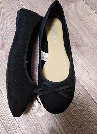 Балетки туфли сменная обувь переобувка 37,5 чешки