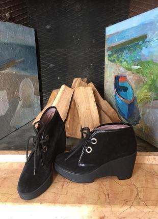 Robert сlergerie роскошные замшевые ботинки ботильоны р. 40 франция