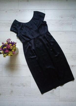 Шелковое платье по фигуре р. 48
