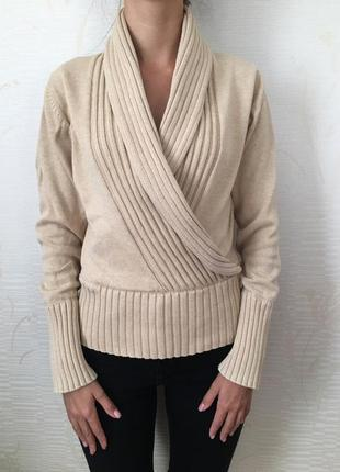 Стильный теплый свитер с, м