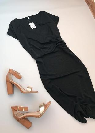 Лаконичное платье на запах миди с отливом zeeman