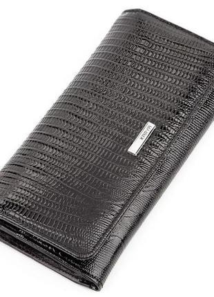 Кошелек женский karya 17195 кожаный черный