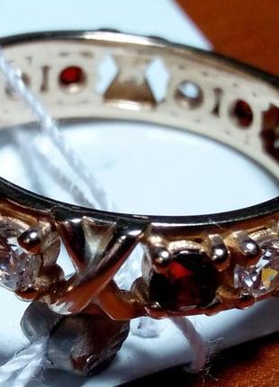 Кольцо серебряное с позолотой tiffani
