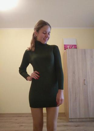 Кашемировое платье-гольф