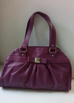 Практичная сумочка кожа debenhams