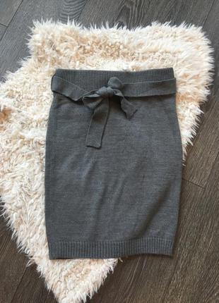 Тёплая вязанная юбка карандаш terranova
