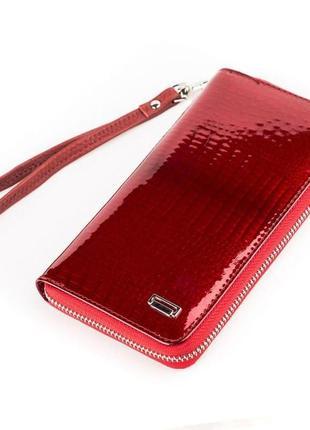 Кошелек-клатч женский balisa 13866 кожаный красный