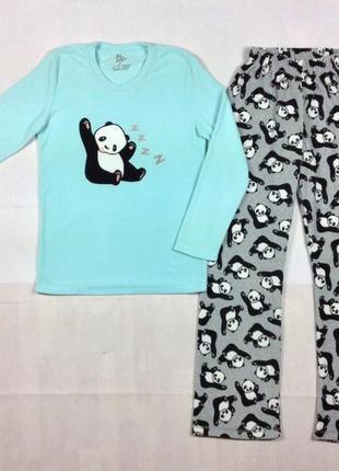 Любимая панда 🐼 фирменная пижама флис primark р. xxs-l