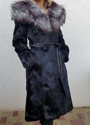 Шуба козлик з чорнобуркою