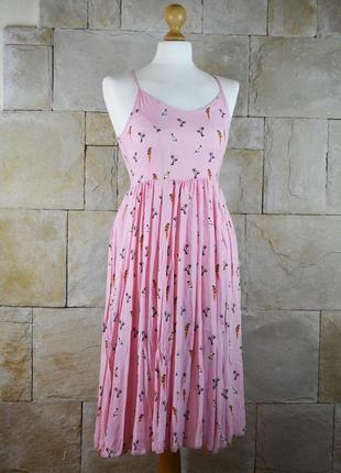 Акция 1+1=3! розовое миди платье для принцессы koton
