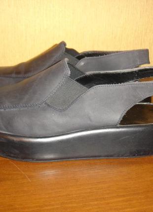 Туфли из натуральной замши на платформе
