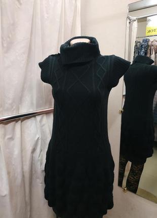 Теплое вязаное платье/туника