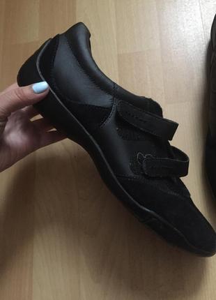 Кожаные кроссовки ботинки clarks