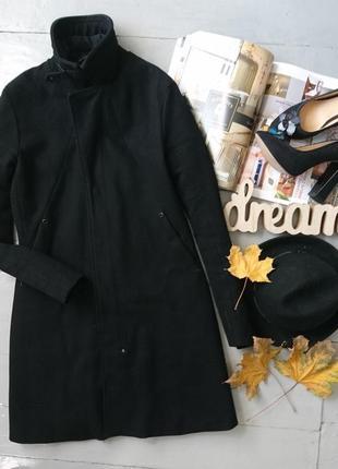 Стильное приталенное шерстяное пальто